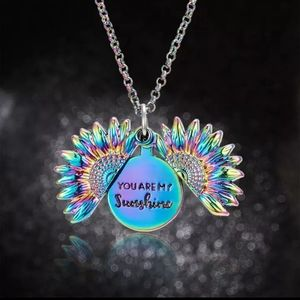 """Sunflower Necklace """"You are my Sunshine"""""""